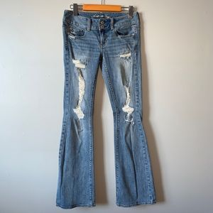 American Eagle distressed ARTIST stretch jeans